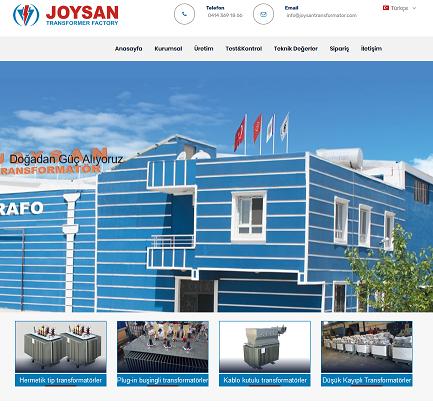 Joysan Trafo Web Sitesi Yayýnda!
